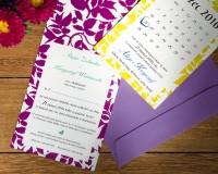 zdjęcie ślubnych zaproszeń w stylu kartek z kalendarza