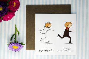 ślubne zaproszenie w humorystycznym stylu